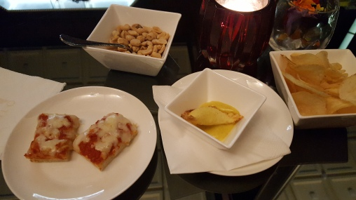 Pear ravioli and homemade pizza