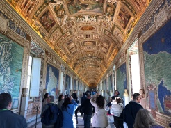 The Map Room inside the Vatican Museums