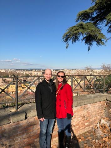 Looking over Rome at Terrazza del Gianicolo